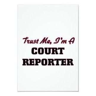 Trust me I'm a Court Reporter 3.5x5 Paper Invitation Card