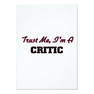 Trust me I'm a Critic 5x7 Paper Invitation Card
