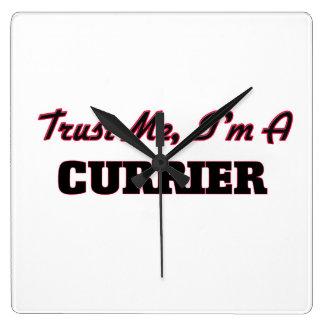 Trust me I'm a Currier Square Wallclocks