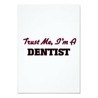 """Trust me I'm a Dentist 3.5"""" X 5"""" Invitation Card"""