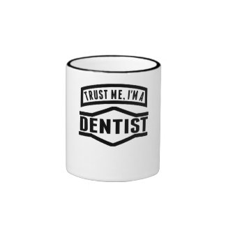 Trust Me I'm A Dentist Ringer Coffee Mug