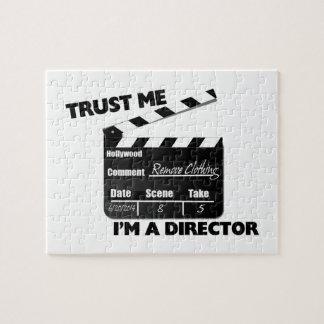 Trust Me I'm A Director Clapboard Jigsaw Puzzle