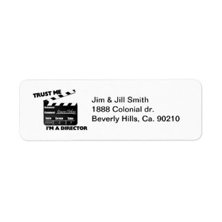 Trust Me I'm A Director Clapboard Label