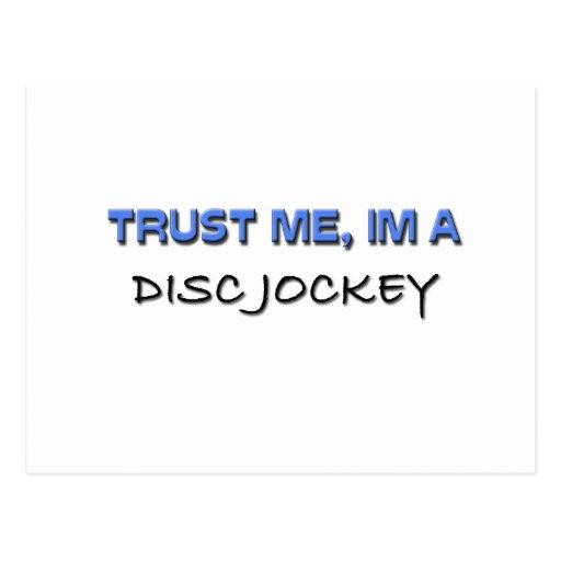 Trust Me I'm a Disc Jockey Postcard