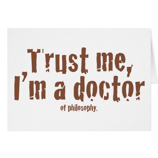 Trust me, I'm a doctor... Card