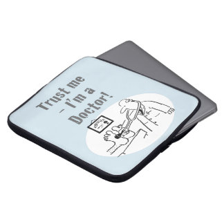 Trust Me - I'm a Doctor! Funny Cartoon Laptop Sleeve