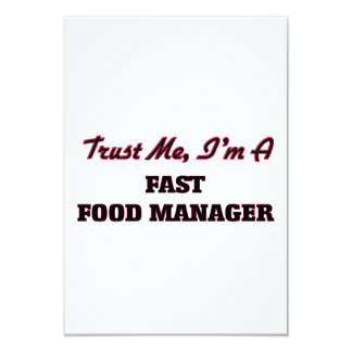 Trust me I'm a Fast Food Manager Personalized Invites