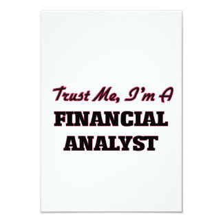 Trust me I'm a Financial Analyst Custom Invites