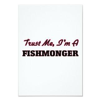 Trust me I'm a Fishmonger 3.5x5 Paper Invitation Card
