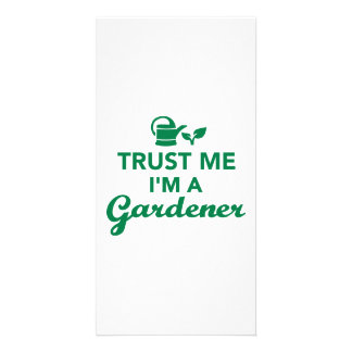 Trust me I'm a Gardener Picture Card
