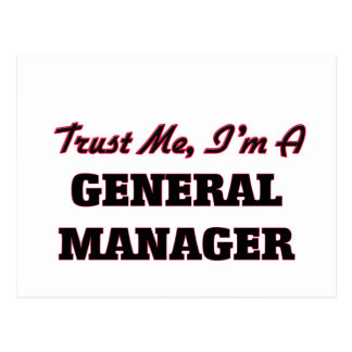 Trust me I'm a General Manager Postcard
