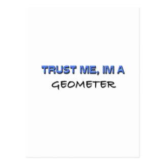 Trust Me I'm a Geometer Postcard