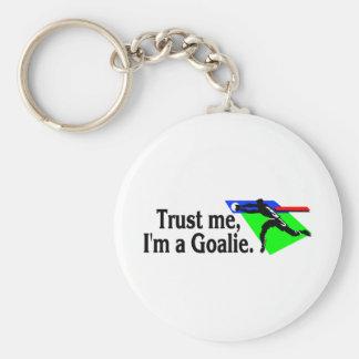 Trust Me Im A Goalie Soccer Keychain