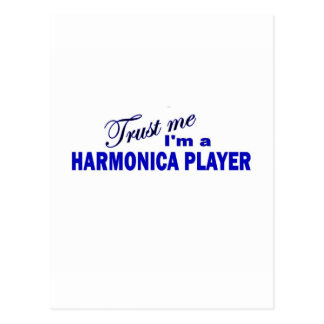 Trust Me I'm a Harmonica Player Postcard