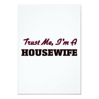 "Trust me I'm a Housewife 3.5"" X 5"" Invitation Card"