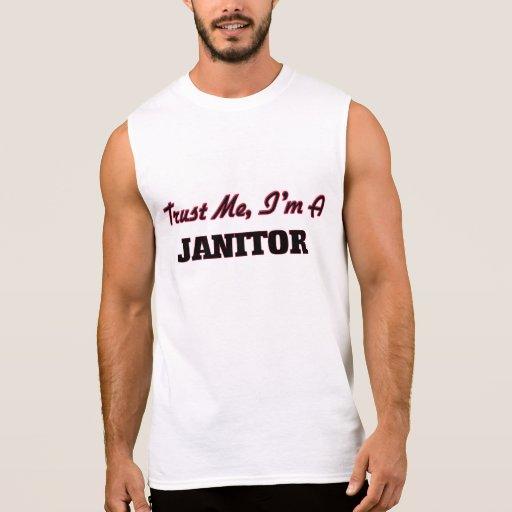 Trust me I'm a Janitor Sleeveless T-shirt Tank Tops, Tanktops Shirts