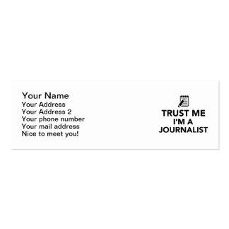 Trust me I'm a Journalist Business Card Templates