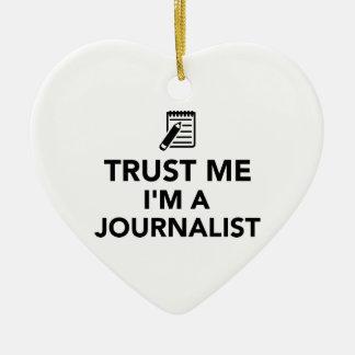 Trust me I'm a Journalist Christmas Ornaments