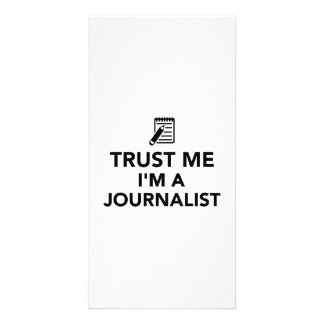Trust me I'm a Journalist Personalized Photo Card