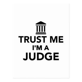 Trust me I'm a Judge Postcard