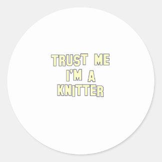 Trust Me I'm a Knitter Classic Round Sticker