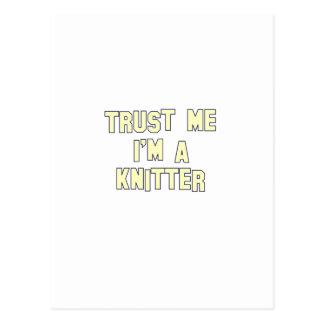 Trust Me I'm a Knitter Postcard