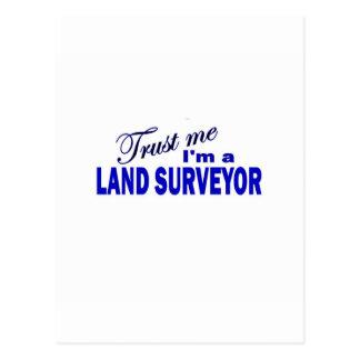 Trust Me I'm a Land Surveyor Postcard