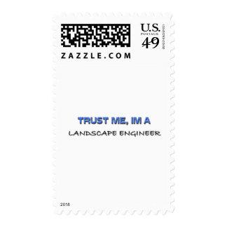 Trust Me I'm a Landscape Engineer Stamp