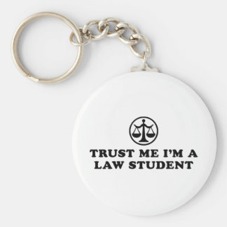 Trust Me I'm A Law Student Basic Round Button Keychain