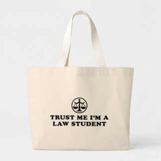 Trust Me I'm A Law Student Large Tote Bag