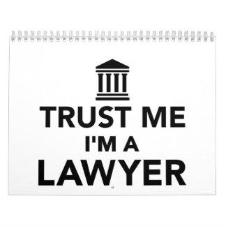 Trust me I'm a Lawyer Calendar