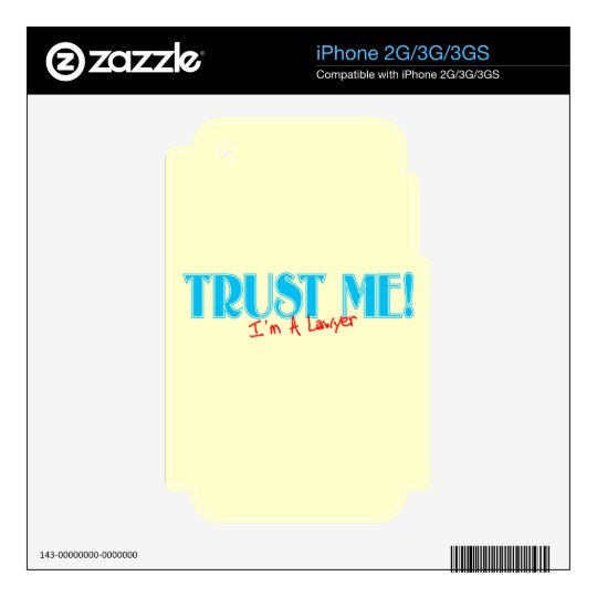 Trust Me I'm A Lawyer iPhone 3 Decals