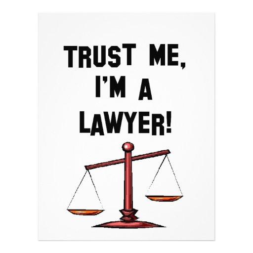 Trust me Im a lawyer Letterhead Design