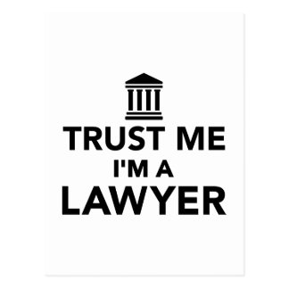 Trust me I'm a Lawyer Postcard