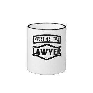 Trust Me I'm A Lawyer Ringer Coffee Mug