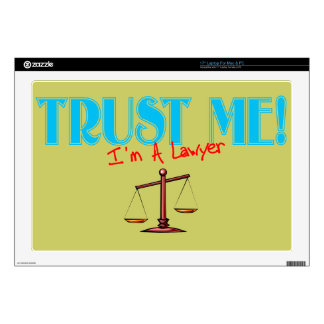 Trust Me I'm A Lawyer Scales Of Justice Decals For Laptops
