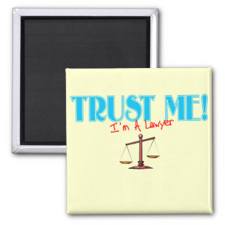 Trust Me I'm A Lawyer Scales Of Justice Magnet