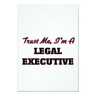 Trust me I'm a Legal Executive 3.5x5 Paper Invitation Card