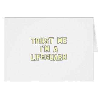 Trust Me I'm a Lifeguard Card