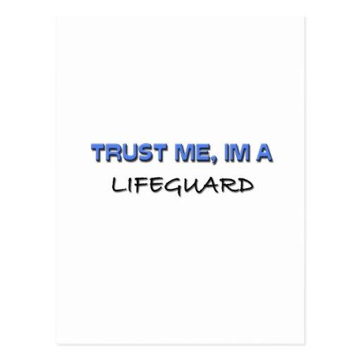 Trust Me I'm a Lifeguard Postcard
