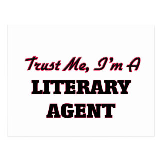 Trust me I'm a Literary Agent Postcard