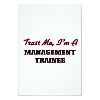 "Trust me I'm a Management Trainee 3.5"" X 5"" Invitation Card"