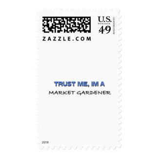 Trust Me I'm a Market Gardener Postage Stamps