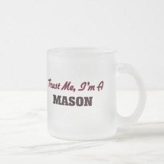 Trust me I'm a Mason 10 Oz Frosted Glass Coffee Mug