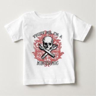 Trust Me I'm a Mechanic Apparel, Travel Mugs, Gift Baby T-Shirt