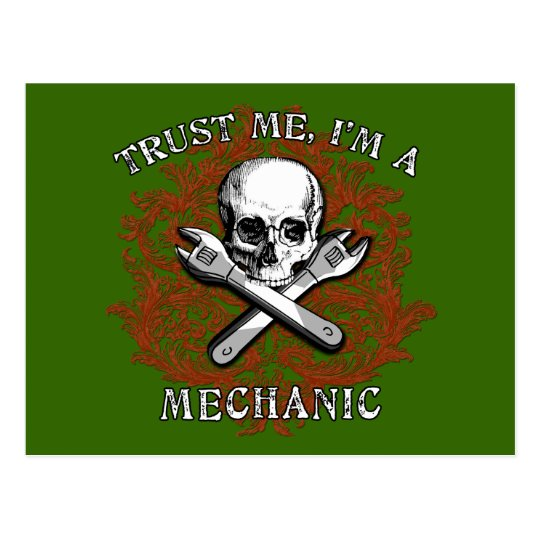 Trust Me I'm a Mechanic Apparel, Travel Mugs, Gift Postcard