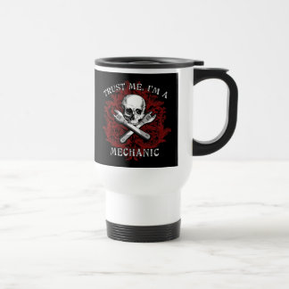 Trust Me I'm a Mechanic Apparel, Travel Mugs, Gift Travel Mug