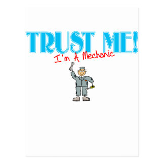 Trust Me I'm A Mechanic Postcard