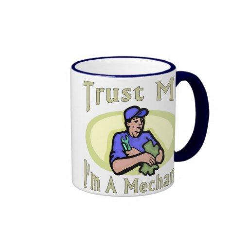 Trust me I'm A Mechanic Ringer Coffee Mug