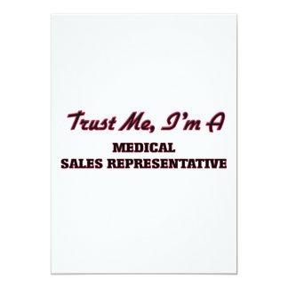 Trust me I'm a Medical Sales Representative 5x7 Paper Invitation Card